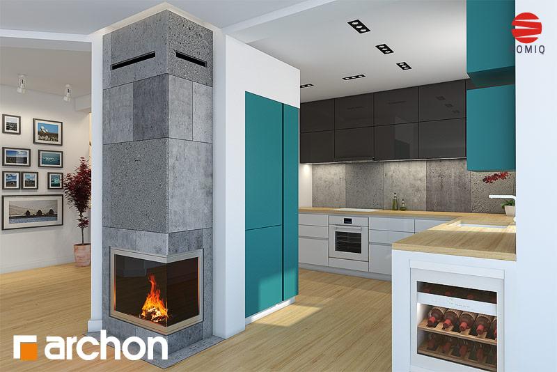 Проект будинку ARCHON+ Будинок в авокадо 2 аранжування кухні 2 від 2