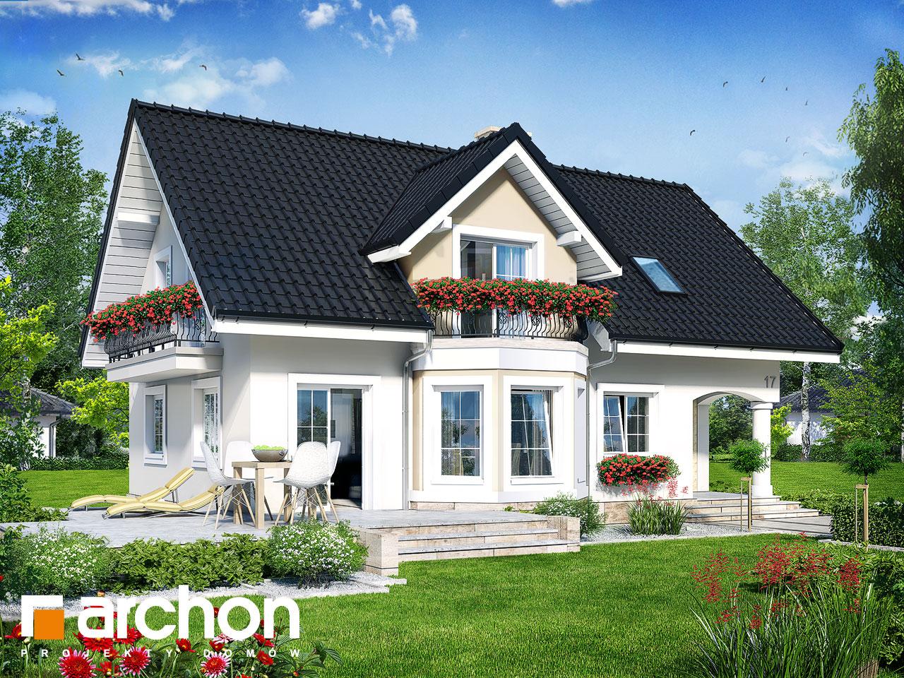 Проект будинку ARCHON+ Будинок в авокадо 2 Вид 2
