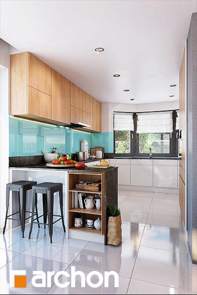 Проект будинку ARCHON+ Будинок в каллатеях 7 (Г2) візуалізація кухні 1 від 1