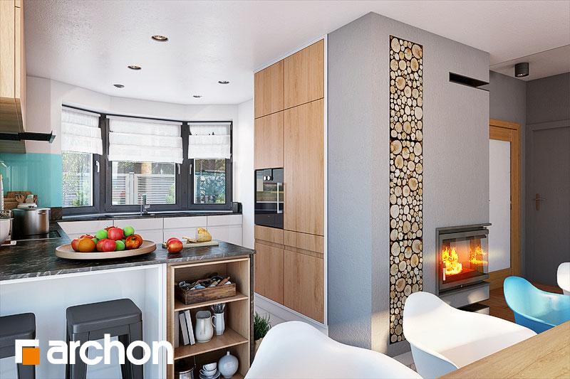 Проект будинку ARCHON+ Будинок в каллатеях 7 (Г2) візуалізація кухні 1 від 2