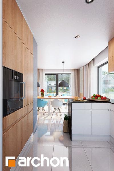 Проект будинку ARCHON+ Будинок в каллатеях 7 (Г2) візуалізація кухні 1 від 3
