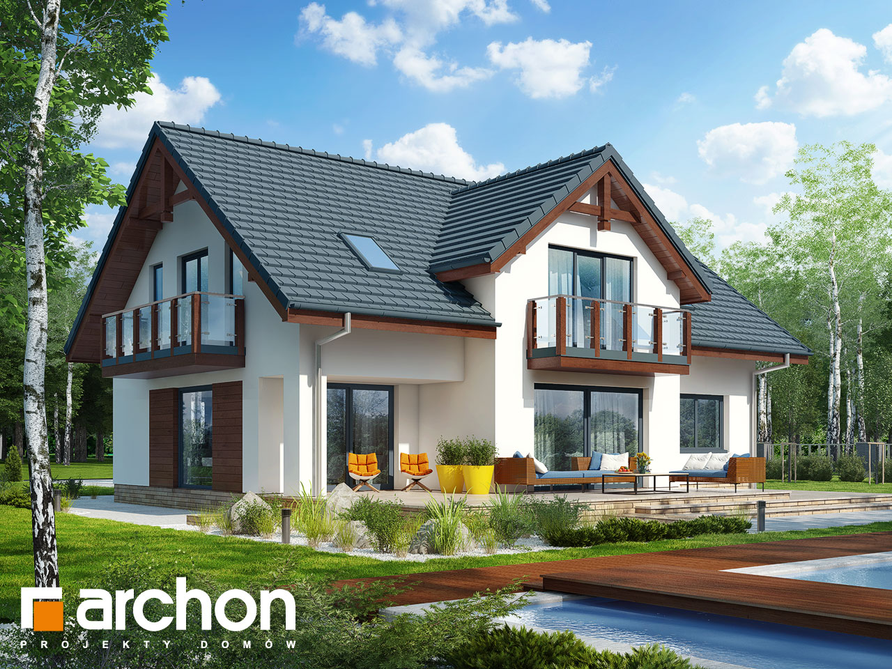 Проект будинку ARCHON+ Будинок в каллатеях 7 (Г2) Вид 2