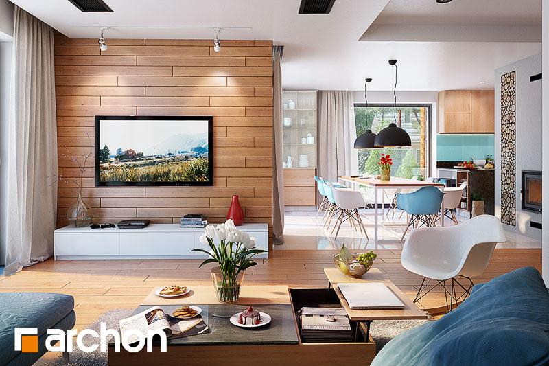 Проект будинку ARCHON+ Будинок в каллатеях 7 (Г2) денна зона (візуалізація 1 від 1)