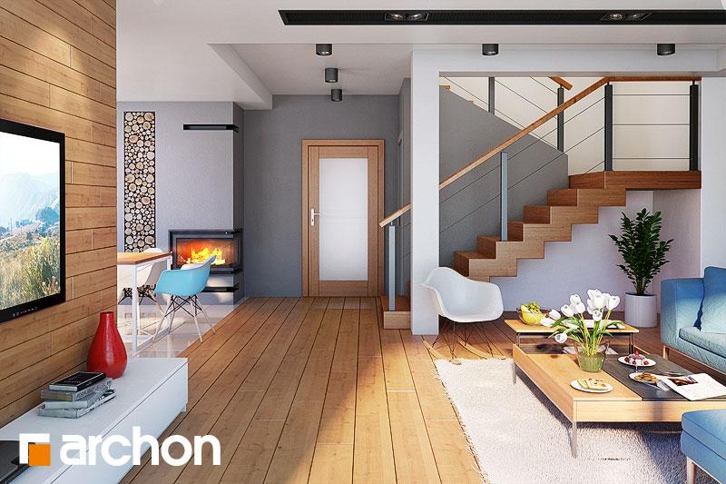Проект будинку ARCHON+ Будинок в каллатеях 7 (Г2) денна зона (візуалізація 1 від 2)
