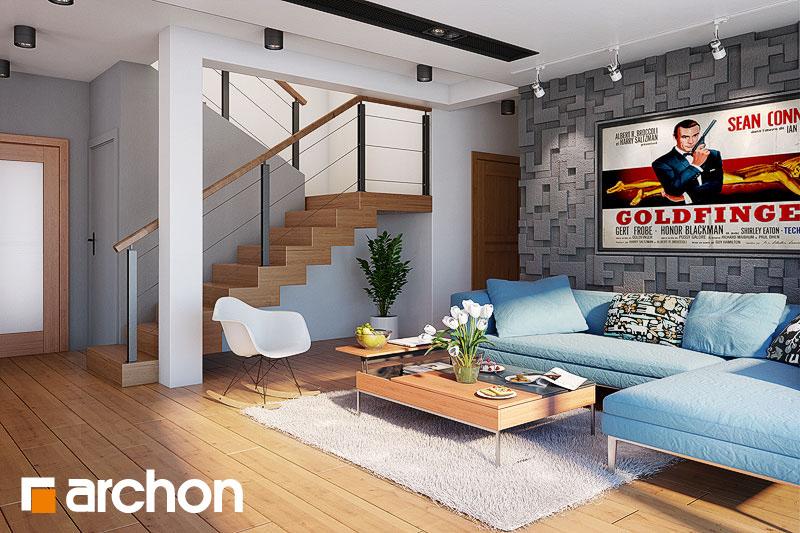 Проект будинку ARCHON+ Будинок в каллатеях 7 (Г2) денна зона (візуалізація 1 від 3)