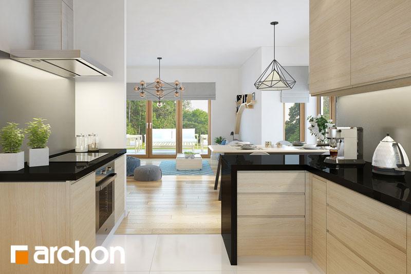 Проект будинку ARCHON+ Будинок під червоною горобиною 7 вер.2 візуалізація кухні 1 від 1