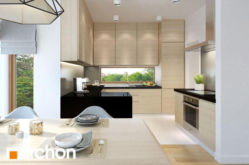 Проект будинку ARCHON+ Будинок під червоною горобиною 7 вер.2 візуалізація кухні 1 від 2