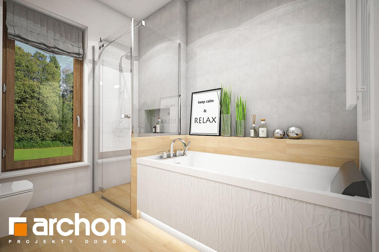 Проект будинку ARCHON+ Будинок під червоною горобиною 7 візуалізація ванни (візуалізація 3 від 2)