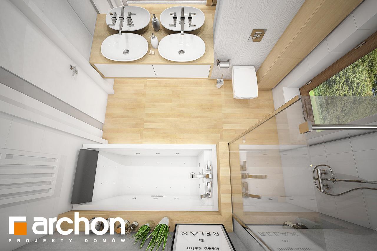 Проект будинку ARCHON+ Будинок під червоною горобиною 7 візуалізація ванни (візуалізація 3 від 4)
