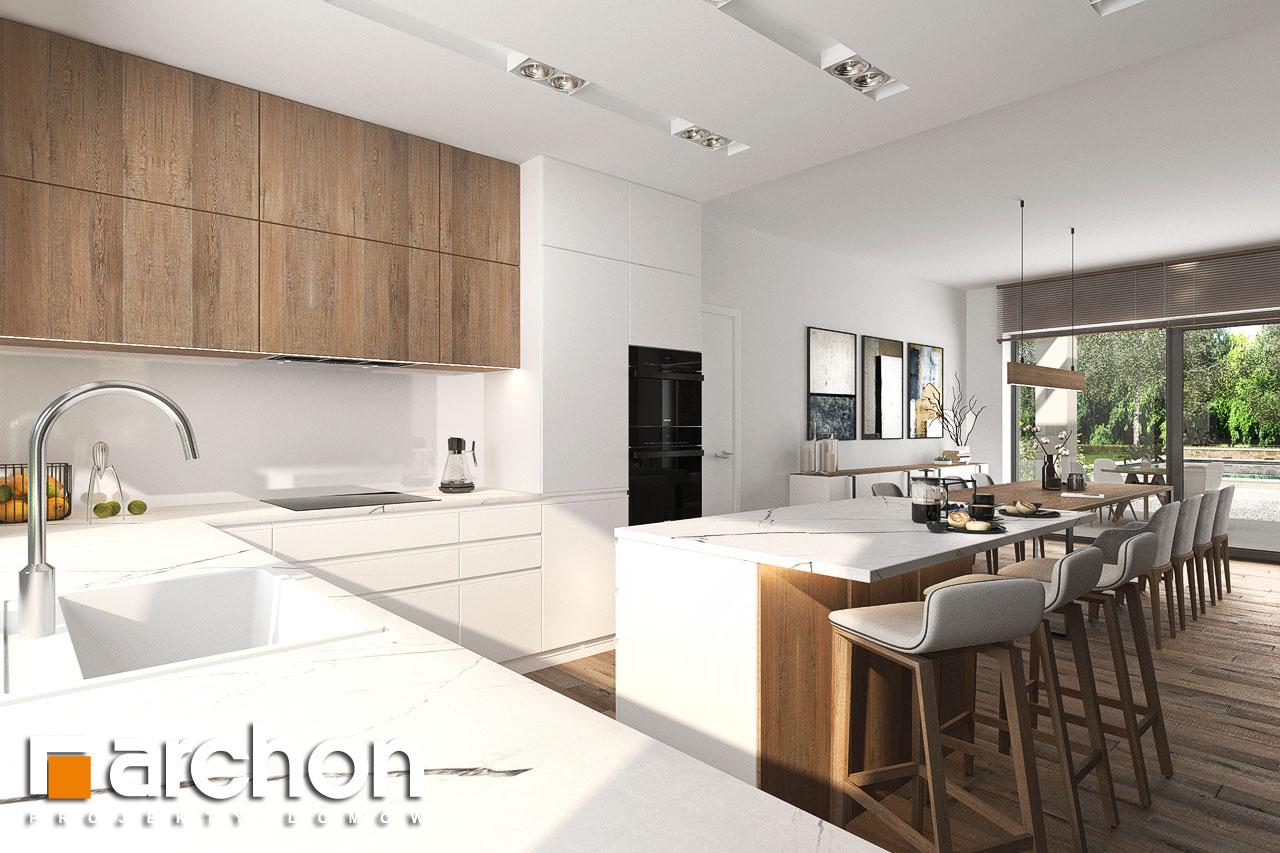 Проект будинку ARCHON+ Будинок в навлоціях 6 (Г2) візуалізація кухні 1 від 1