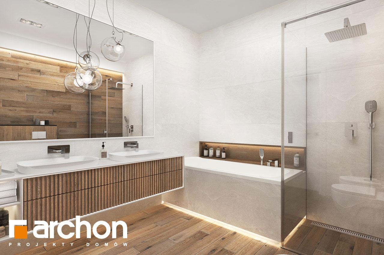 Проект будинку ARCHON+ Будинок в навлоціях 6 (Г2) візуалізація ванни (візуалізація 3 від 2)