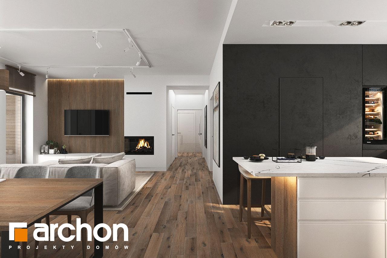 Проект будинку ARCHON+ Будинок в навлоціях 6 (Г2) денна зона (візуалізація 1 від 2)