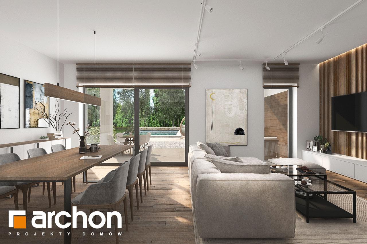 Проект будинку ARCHON+ Будинок в навлоціях 6 (Г2) денна зона (візуалізація 1 від 3)