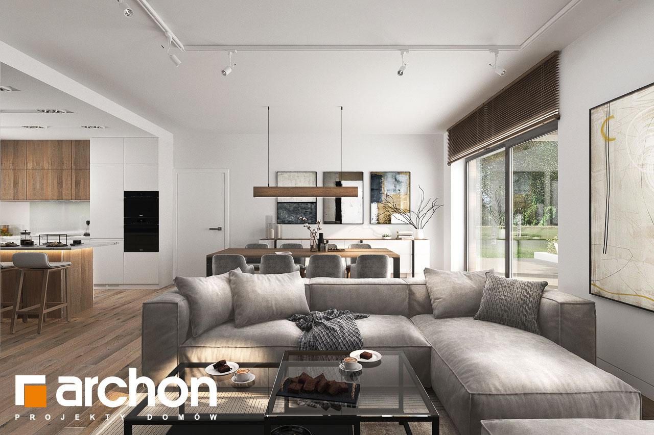 Проект будинку ARCHON+ Будинок в навлоціях 6 (Г2) денна зона (візуалізація 1 від 4)