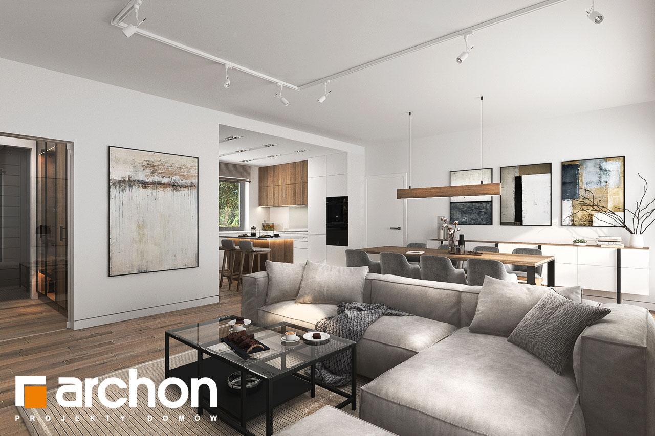 Проект будинку ARCHON+ Будинок в навлоціях 6 (Г2) денна зона (візуалізація 1 від 5)