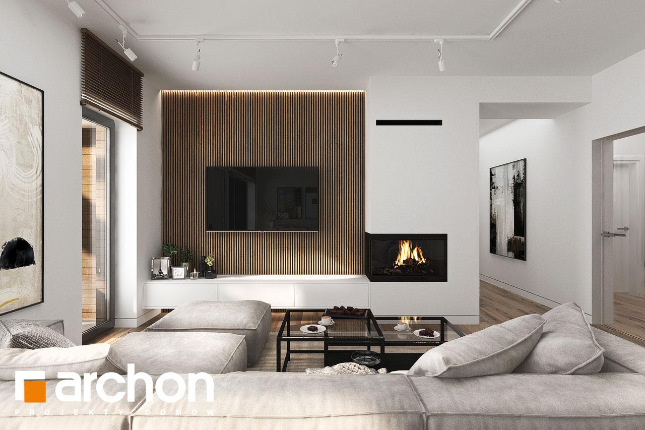 Проект будинку ARCHON+ Будинок в навлоціях 6 (Г2) денна зона (візуалізація 1 від 6)