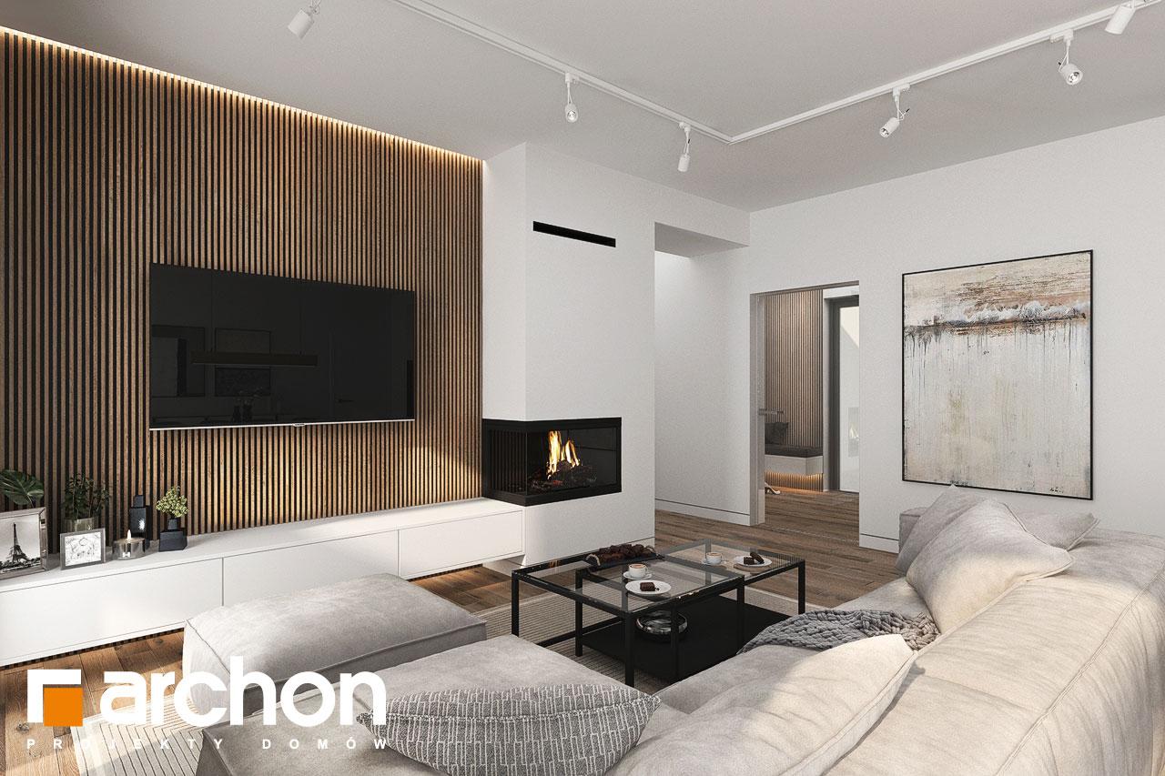 Проект будинку ARCHON+ Будинок в навлоціях 6 (Г2) денна зона (візуалізація 1 від 7)