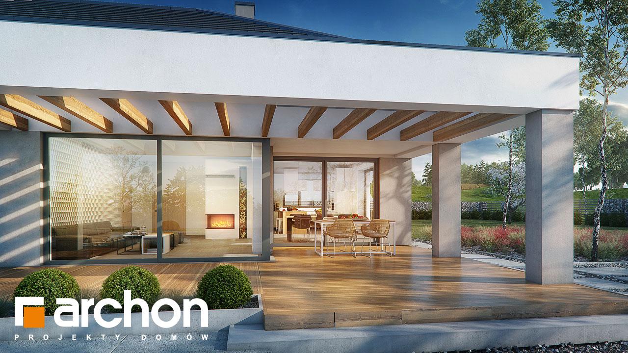 Проект будинку ARCHON+ Будинок в підсніжниках 2 (Г2) додаткова візуалізація