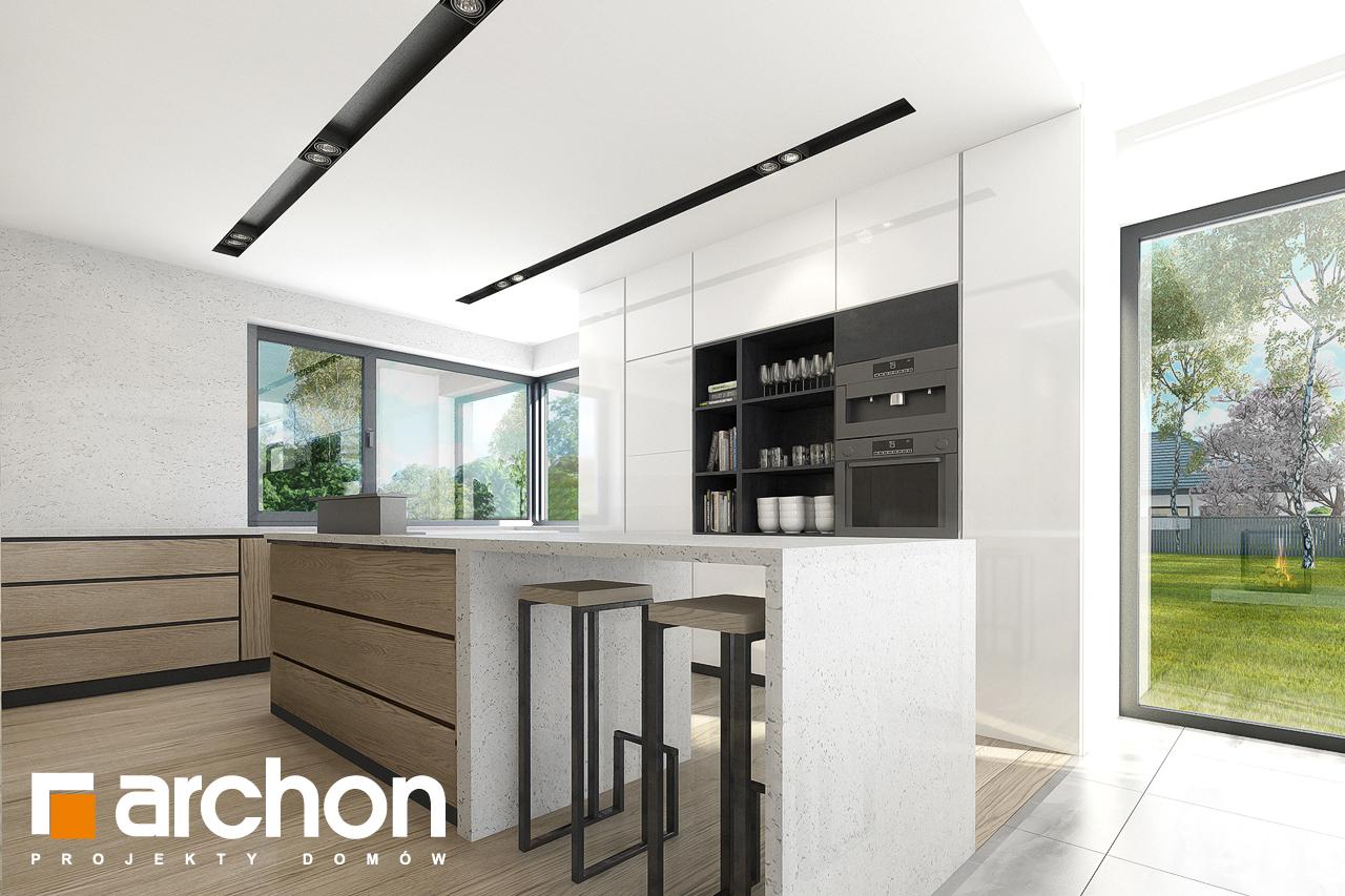 Проект будинку ARCHON+ Будинок в підсніжниках 2 (Г2) візуалізація кухні 1 від 2