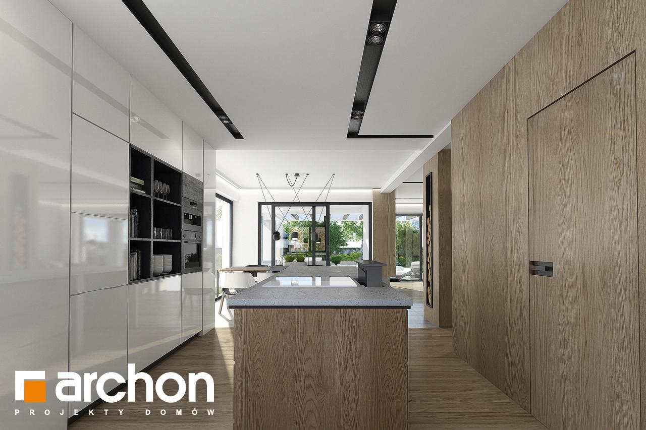 Проект будинку ARCHON+ Будинок в підсніжниках 2 (Г2) візуалізація кухні 1 від 3