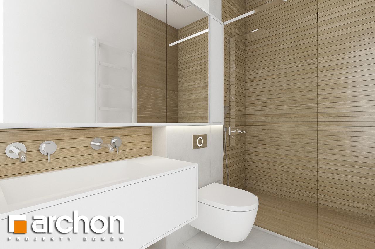 Проект будинку ARCHON+ Будинок в підсніжниках 2 (Г2) візуалізація ванни (візуалізація 3 від 1)