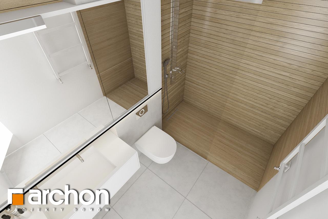 Проект будинку ARCHON+ Будинок в підсніжниках 2 (Г2) візуалізація ванни (візуалізація 3 від 2)