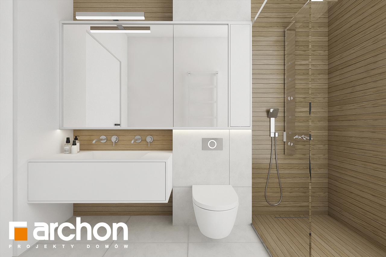 Проект будинку ARCHON+ Будинок в підсніжниках 2 (Г2) візуалізація ванни (візуалізація 3 від 3)