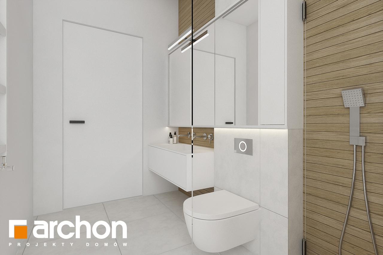 Проект будинку ARCHON+ Будинок в підсніжниках 2 (Г2) візуалізація ванни (візуалізація 3 від 4)