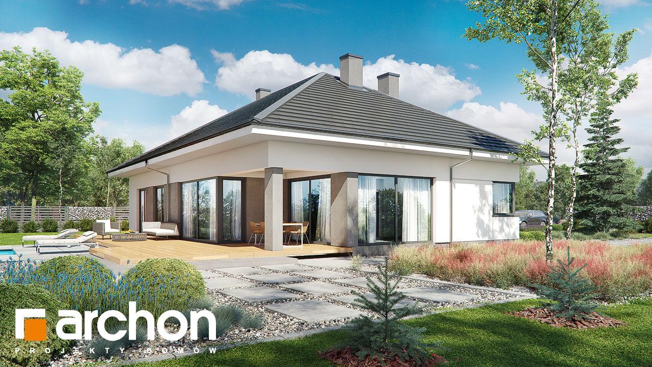 Проект будинку ARCHON+ Будинок в підсніжниках 2 (Г2) стилізація 3