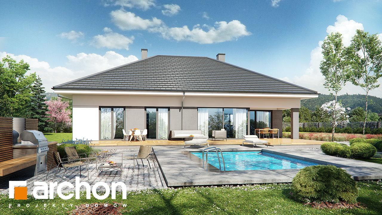 Проект будинку ARCHON+ Будинок в підсніжниках 2 (Г2) стилізація 4