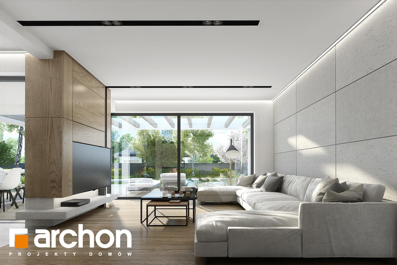 Проект будинку ARCHON+ Будинок в підсніжниках 2 (Г2) денна зона (візуалізація 1 від 1)