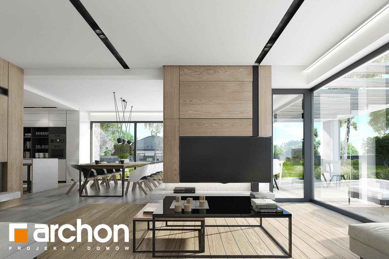 Проект будинку ARCHON+ Будинок в підсніжниках 2 (Г2) денна зона (візуалізація 1 від 2)