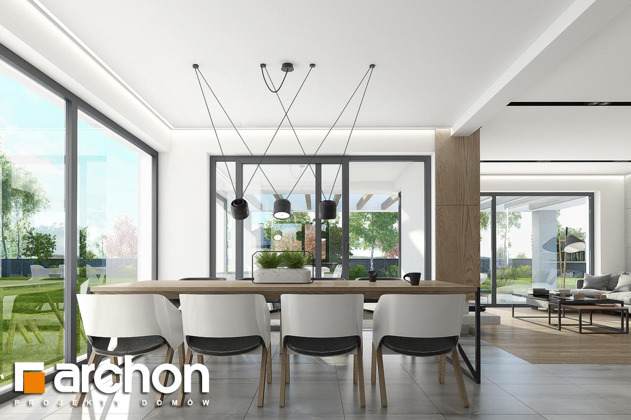 Проект будинку ARCHON+ Будинок в підсніжниках 2 (Г2) денна зона (візуалізація 1 від 5)