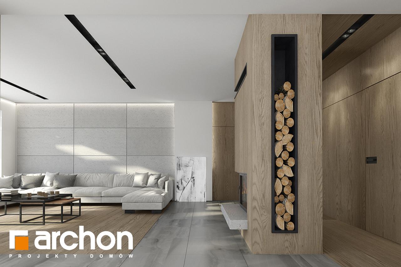 Проект будинку ARCHON+ Будинок в підсніжниках 2 (Г2) денна зона (візуалізація 1 від 6)