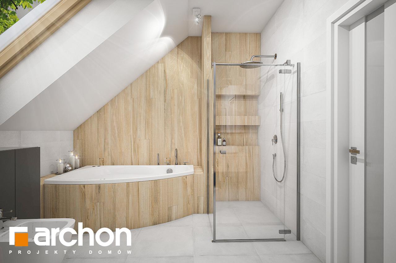 Проект будинку ARCHON+ Будинок у гвоздиках (Г2А) візуалізація ванни (візуалізація 3 від 2)