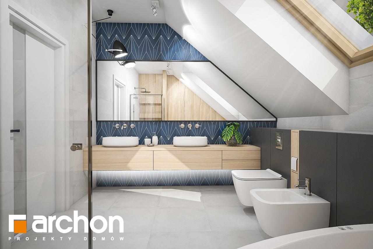 Проект будинку ARCHON+ Будинок у гвоздиках (Г2А) візуалізація ванни (візуалізація 3 від 3)