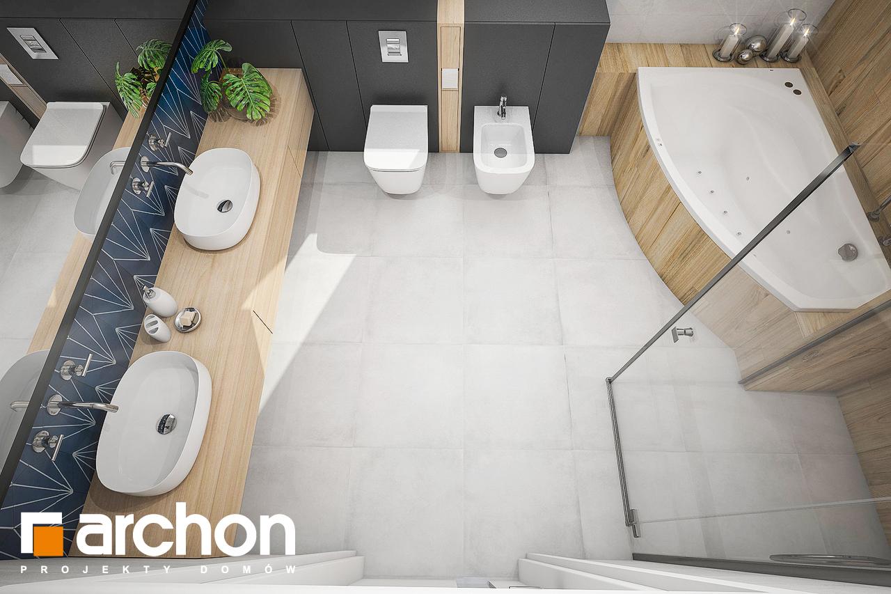 Проект будинку ARCHON+ Будинок у гвоздиках (Г2А) візуалізація ванни (візуалізація 3 від 4)