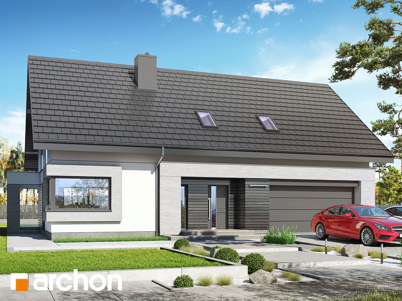 Проект будинку ARCHON+ Будинок у гвоздиках (Г2А) Вид 1
