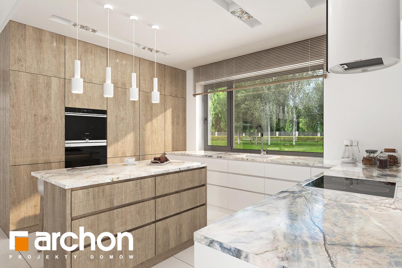 Проект будинку ARCHON+ Будинок в сантанах візуалізація кухні 1 від 2
