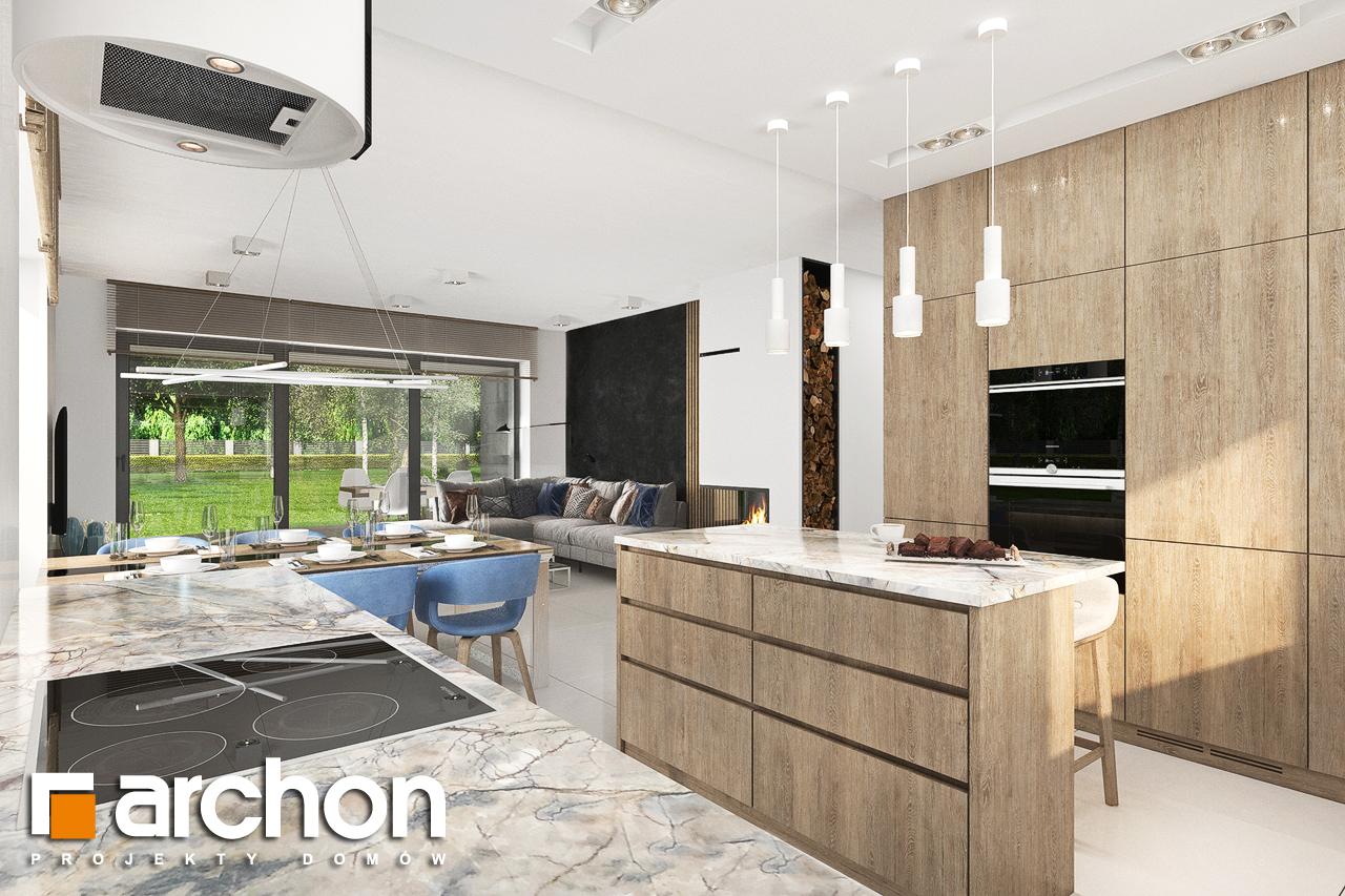 Проект будинку ARCHON+ Будинок в сантанах візуалізація кухні 1 від 3