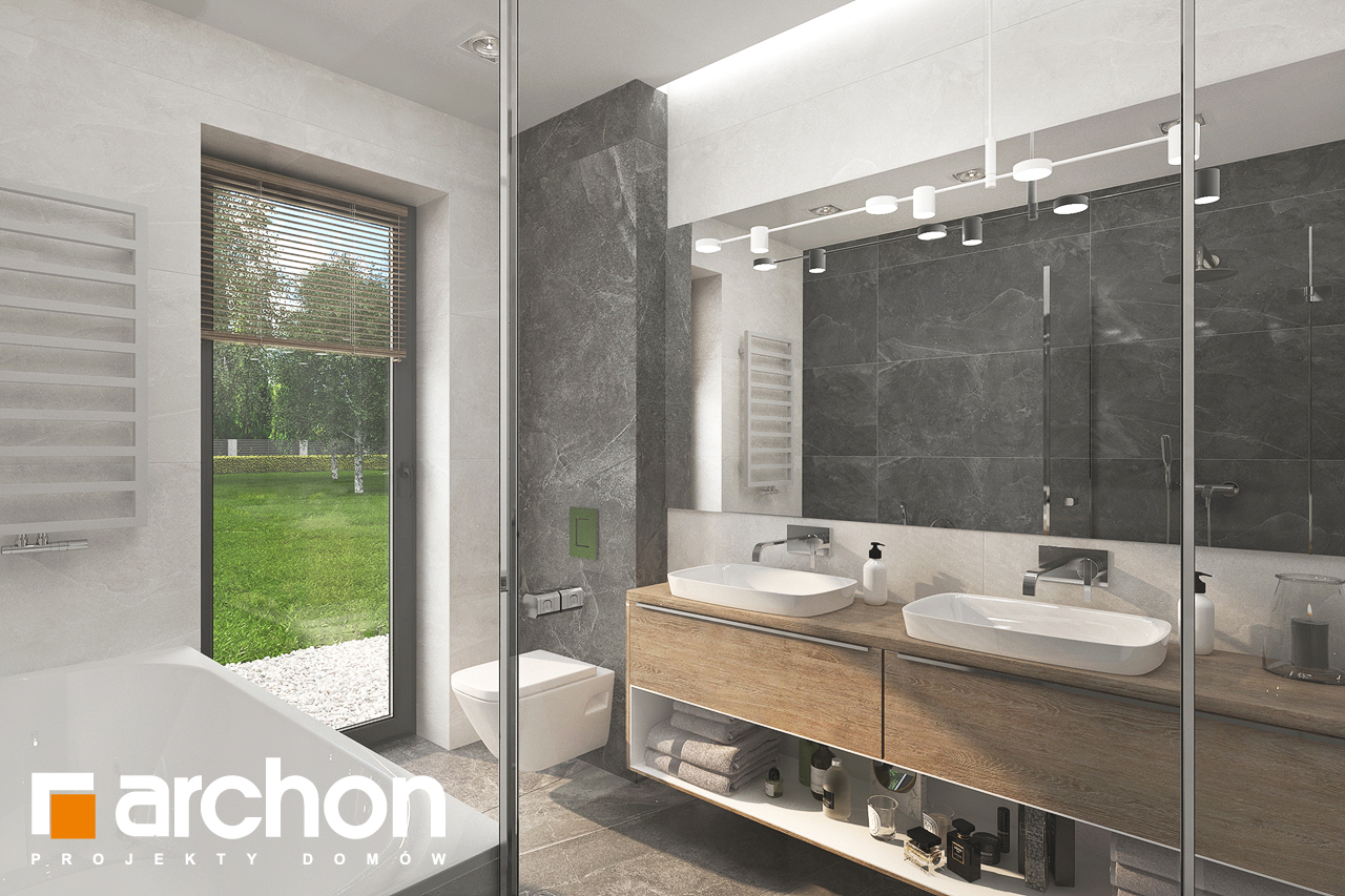 Проект будинку ARCHON+ Будинок в сантанах візуалізація ванни (візуалізація 3 від 2)