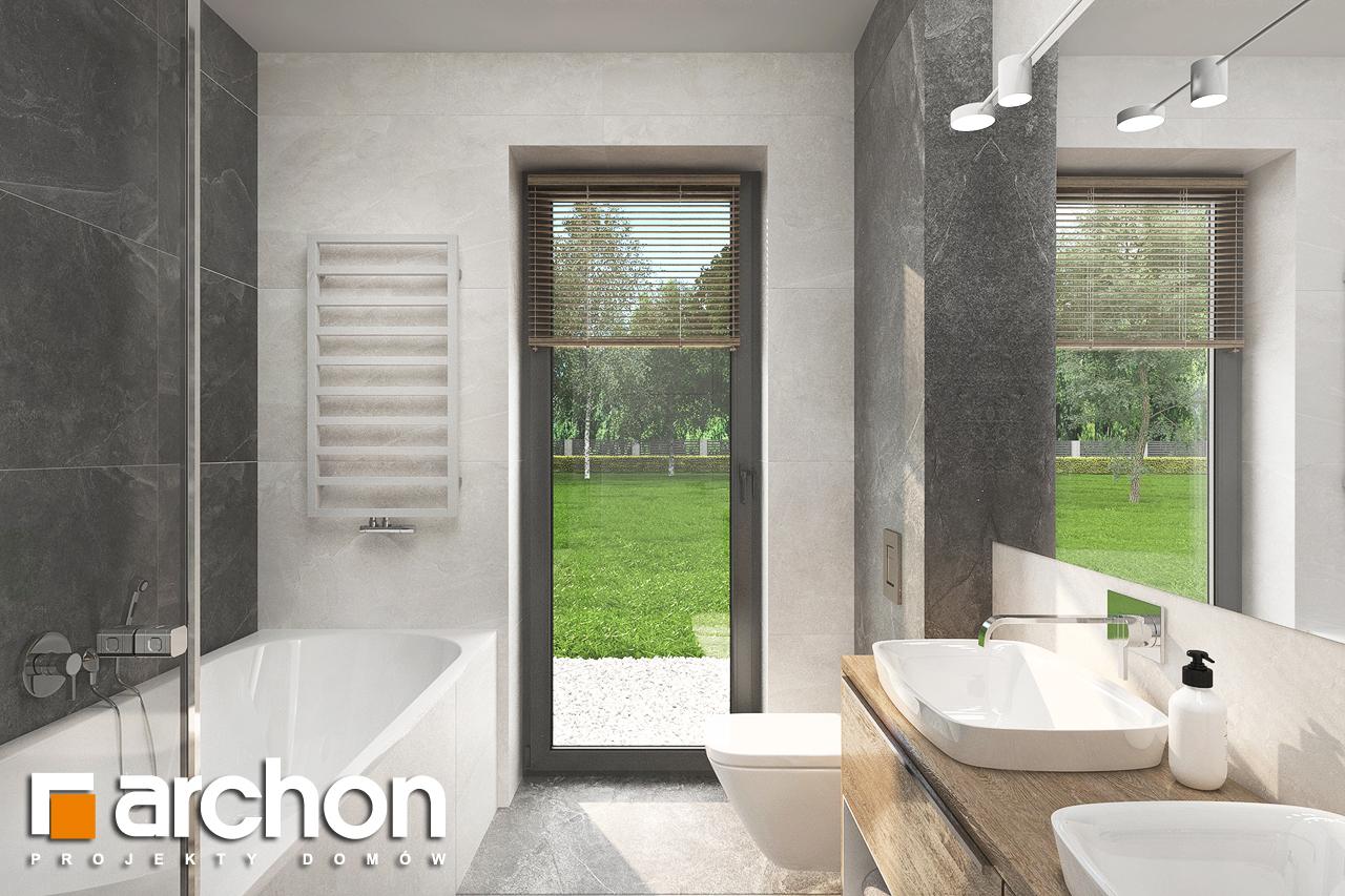 Проект будинку ARCHON+ Будинок в сантанах візуалізація ванни (візуалізація 3 від 3)