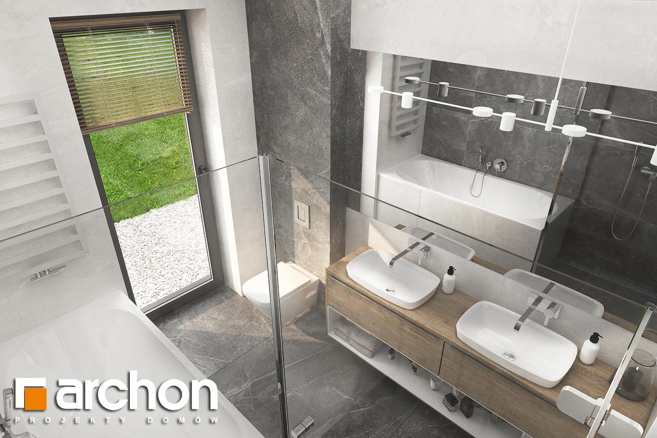Проект будинку ARCHON+ Будинок в сантанах візуалізація ванни (візуалізація 3 від 4)