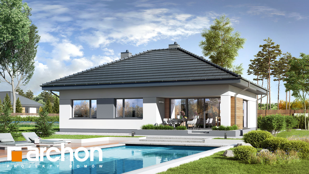 Проект будинку ARCHON+ Будинок в сантанах Вид 2