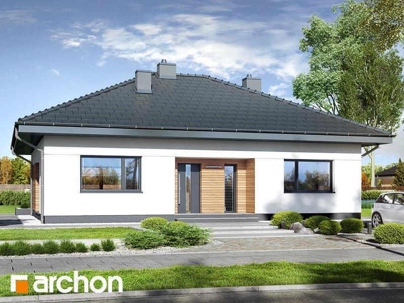 Проект будинку ARCHON+ Будинок в сантанах Вид 1