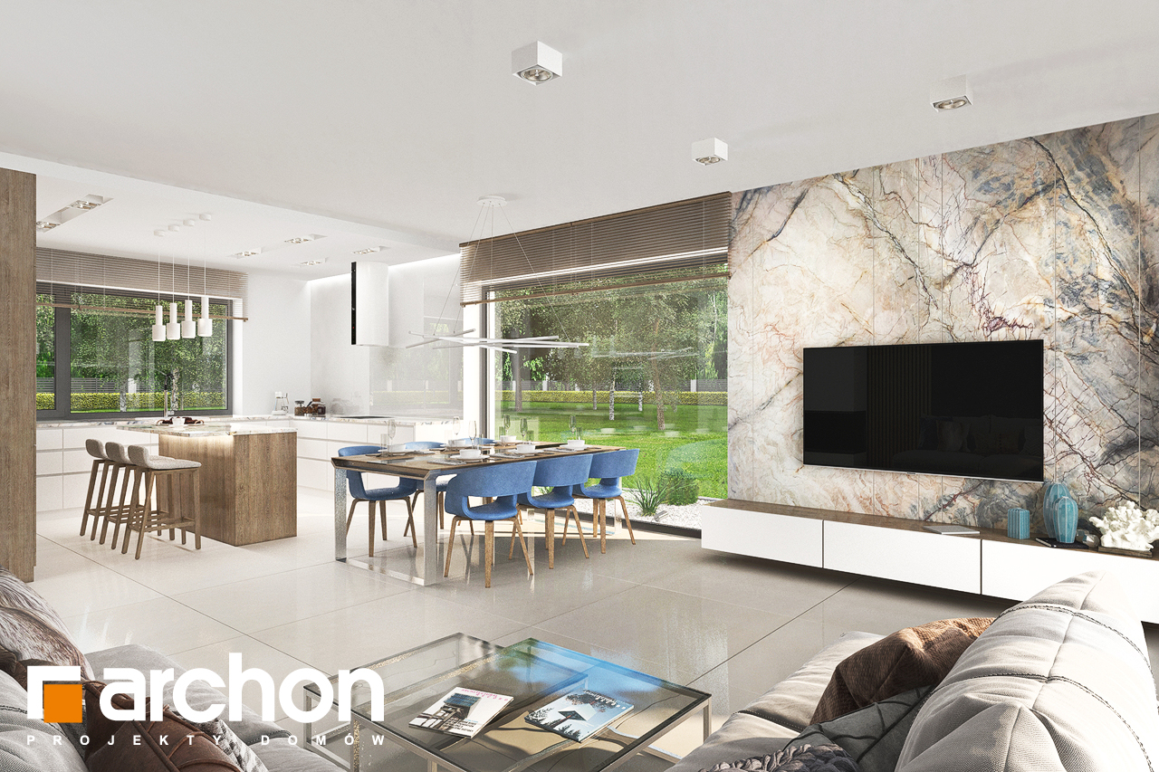 Проект будинку ARCHON+ Будинок в сантанах денна зона (візуалізація 1 від 1)