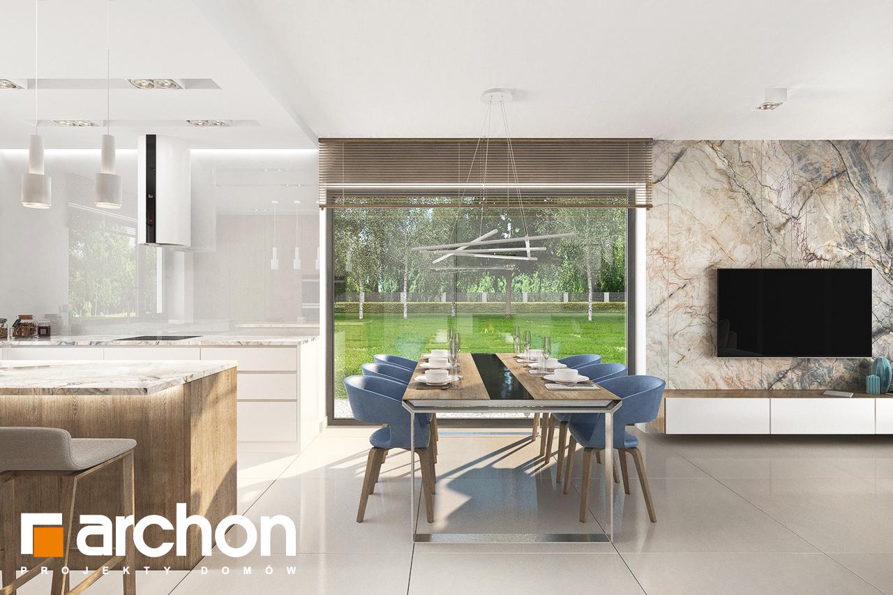 Проект будинку ARCHON+ Будинок в сантанах денна зона (візуалізація 1 від 2)