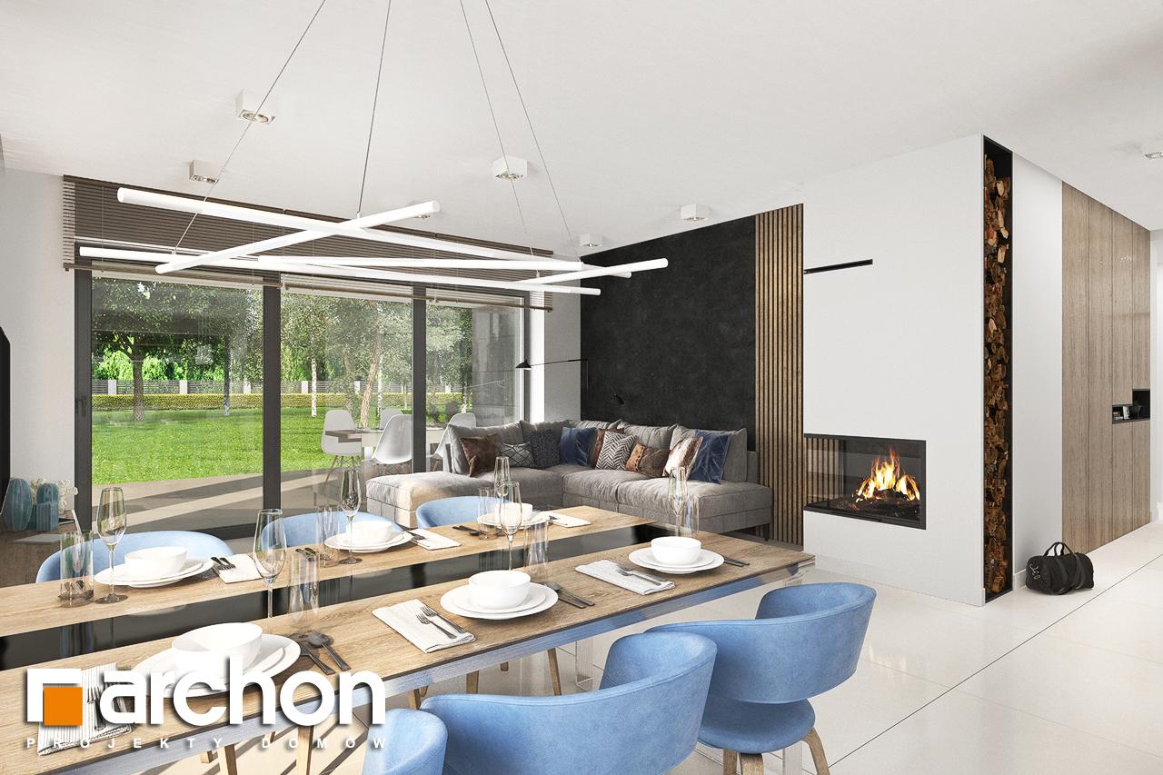 Проект будинку ARCHON+ Будинок в сантанах денна зона (візуалізація 1 від 3)