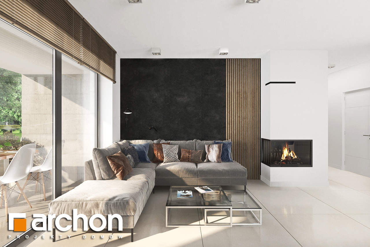 Проект будинку ARCHON+ Будинок в сантанах денна зона (візуалізація 1 від 5)