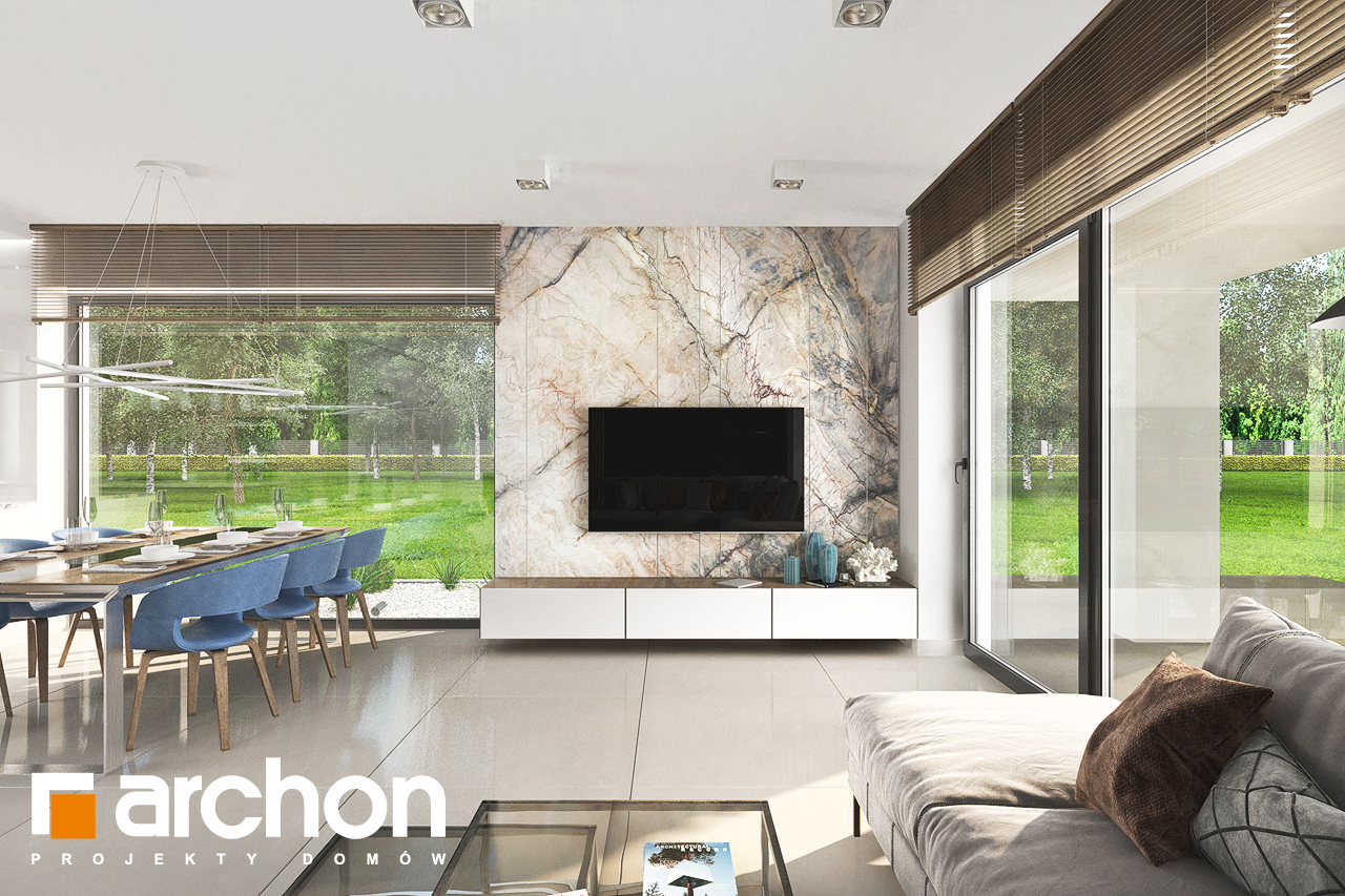 Проект будинку ARCHON+ Будинок в сантанах денна зона (візуалізація 1 від 6)